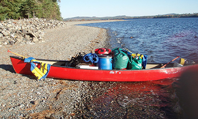 Canoe With Gear, Katahdin Outfitters